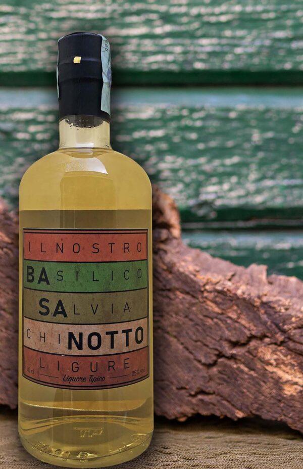 Basanotto liquore tipico ligure basilico salvia chinotto