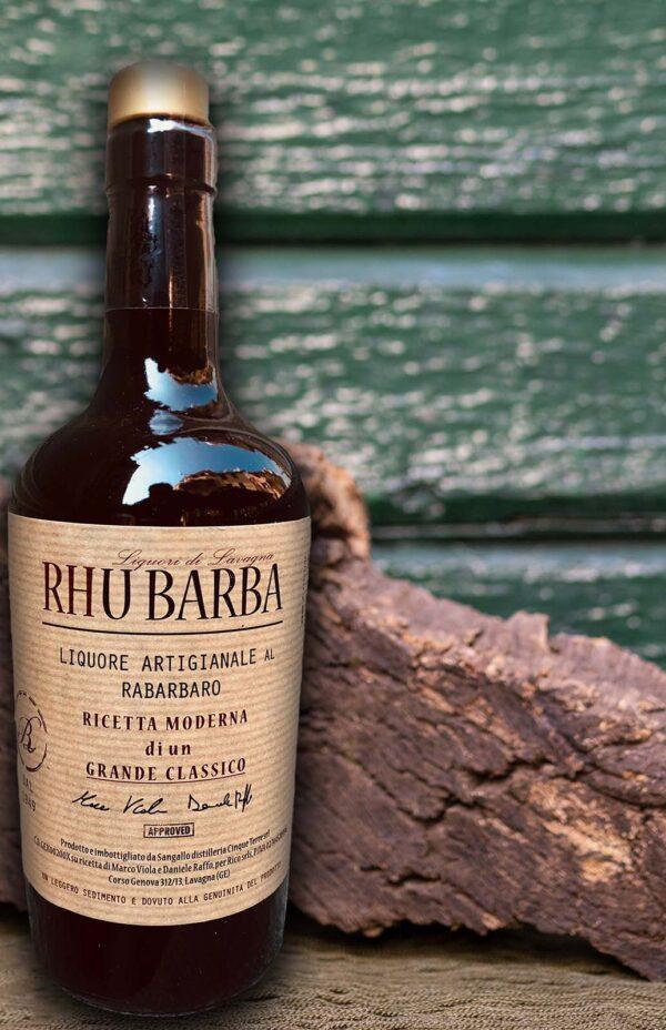 Rhu Barba - liquore artigianale al Rabarbaro